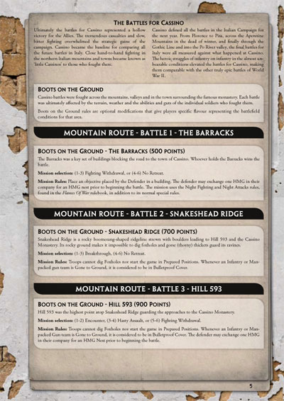 Boots on the Ground Reference Sheet