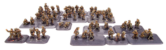 Infantry before basing