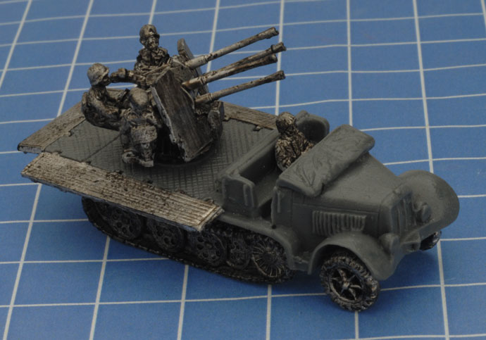 Assembling the Sd Kfz 7/1 Quad AA Platoon (GBX159)