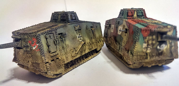 Heavy Tank Platoon - Female & Male Mark IV Tanks
