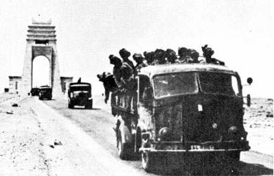 Bersaglieri mounted in a captured French truck