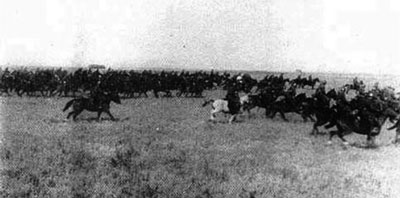 Italian cavalry on the move.