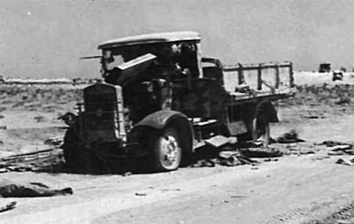 Destroyed Italian truck