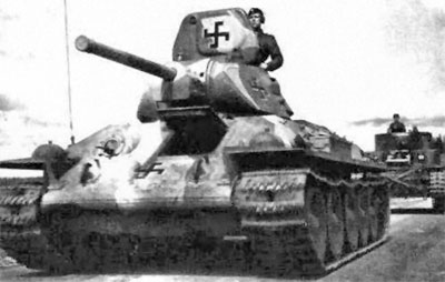 T-34 in three tone camouflage