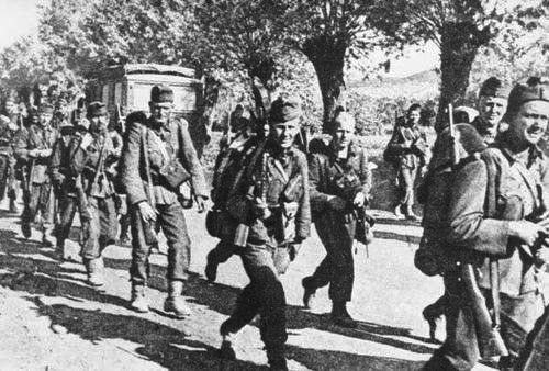 Hungarians march to the front