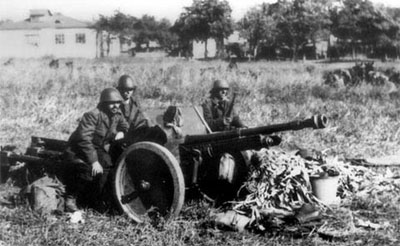 Romanian Schnieder 47mm anti-tank gun