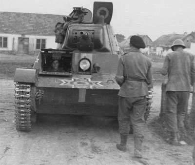 A captured T-26 obr 1939 in Romanian colours