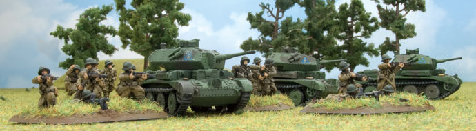 Cruisers tanks supporting French infantry