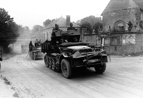 The German advance rapidly towards Calais