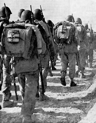 Polish infantry on the move