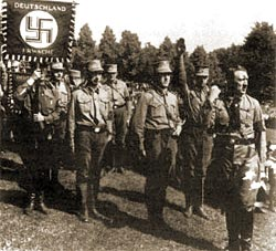 "Hilter with his ""Brown Shirts"""