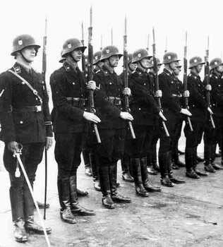 On parade  Waffen Ss March