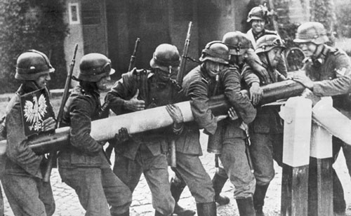 The SS infantry spearheaded  Waffen Ss March