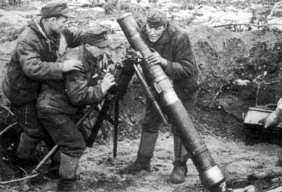 Volksgrenadier 12cm sGW43 heavy mortar