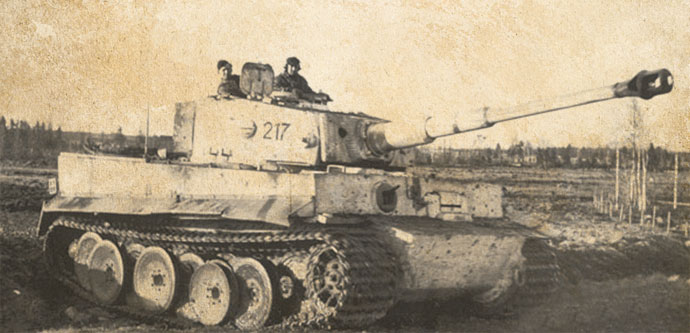 Otto Carius' original Tiger, number 213