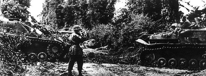 17. SS StuG IV assault guns in the bocage