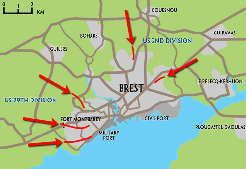 The assault on Brest