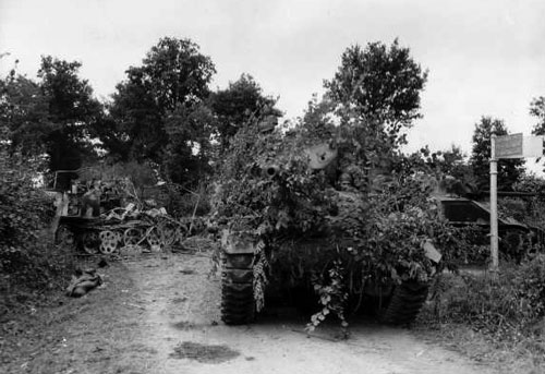 Camouflaged Sherman