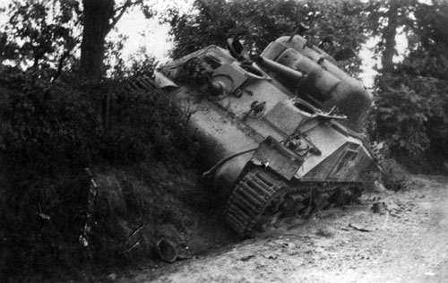Bogged down Sherman