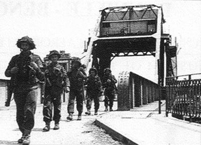 British Infantry Crossing the Bridge
