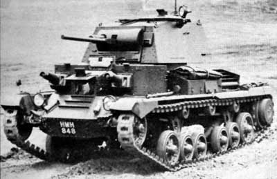A9 Crusier Tank as used by the 1st and 6th Royal TR