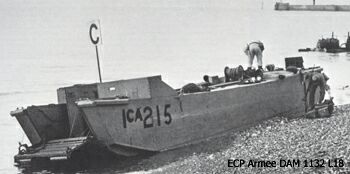 One of the Landing Craft Assault (LCA) used in the operation