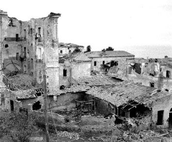 A view of Ortona rooftops after the fighting was over.