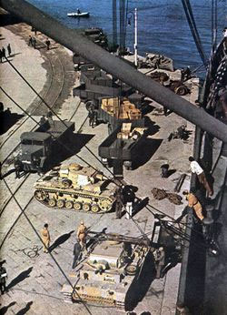 Panzers on the dock