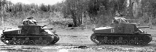 M3 medium tanks