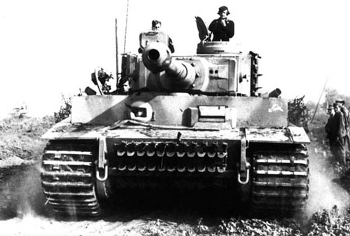 Tiger tank during the battle for Kursk