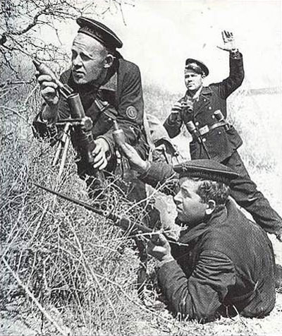 Soviet Naval Infantry in action