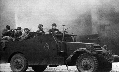 Soviet recon in a scout car