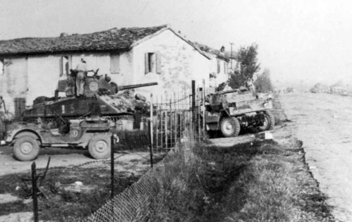 A New Zealand tank near Rimini.