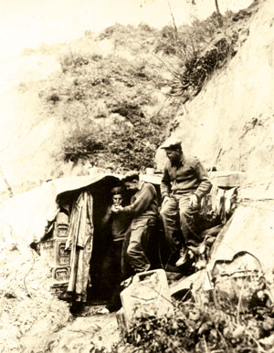 South African dug-out on the Gothic Line