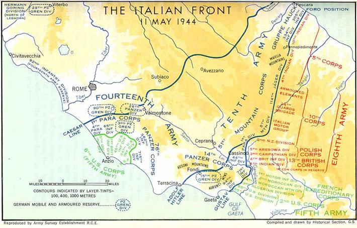 The Italian Front 11 May 1944