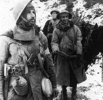 French troops in the mountains of Italy