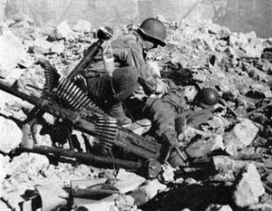 US Troops in Cassino
