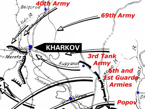 Soviet Armies attacking around Kharkov