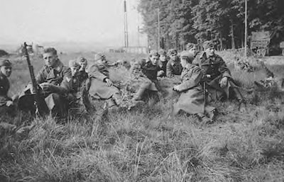Luftwaffe Field Troops at rest