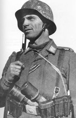 Luftwaffe Field Trooper armed with a rifle and grenades