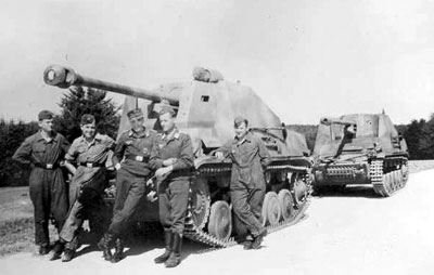 Marder IIs crewed by Luftwaffe