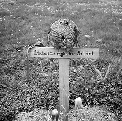 Grave of an unknown English soldier