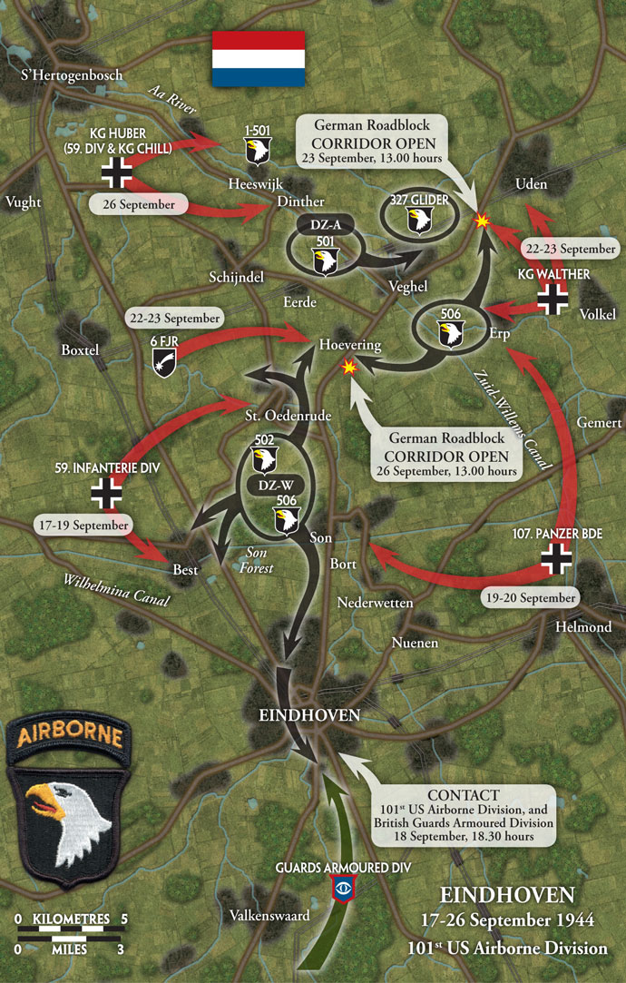101st Airborne area of operations around Eindhoven