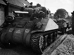 A Sherman of the 11th Armoured Division