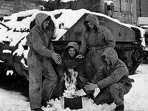 Sherman during the winter of 44/45