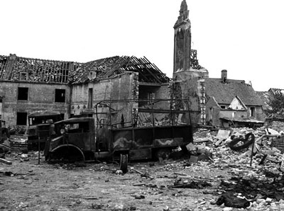 The aftermath at Bretteville