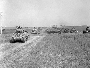 Shermans and Cromwells of the 1st Polish Armoured Division