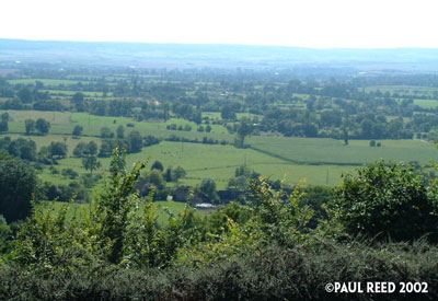 "View into the Falaise Pocket from ""The Mace"" (Montormel)"