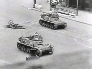 German Tanks in Paris, 1944