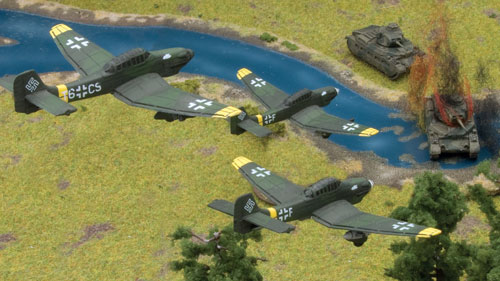 Stuka in action